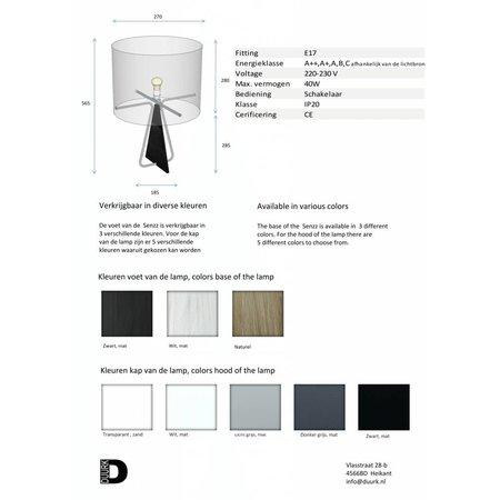Senzz Table lamp - BLACK-BLACK