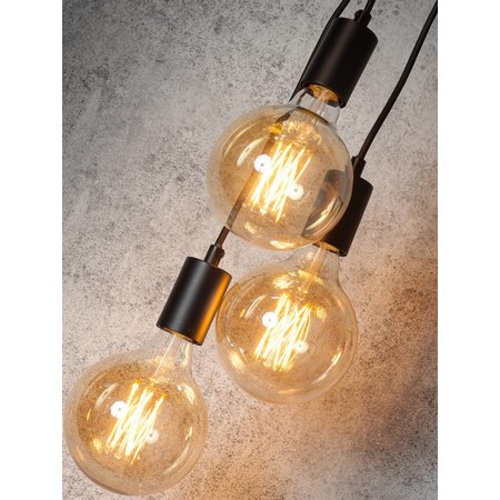 It's about RoMi Oslo - Hanging Lamp - 7 - Black