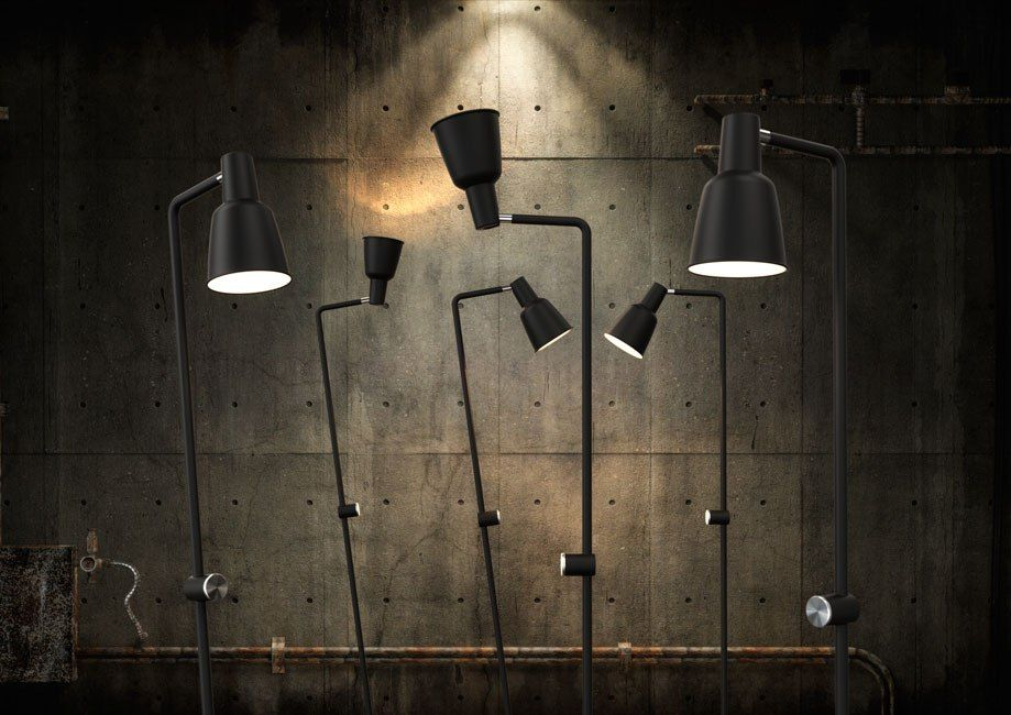 Nordlux patton staande lamp zwart duurk