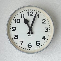 Vintage AEG - School Clock - Grey