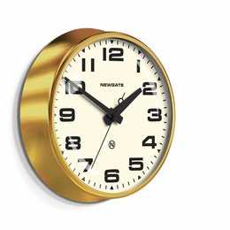 Newgate The Brixton - Wall Clock - Brass