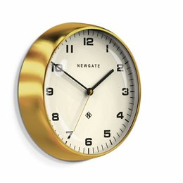 Newgate The Chrysler - Wall Clock - Brass