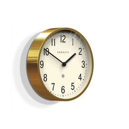 Newgate Master Edwards - Wall Clock - Brass
