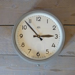 Vintage NUFA - School Clock - Grey
