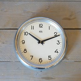 Vintage NUFA - School Clock - Chrome (NO Glass)