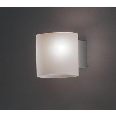 Martinelli Luce Tube Glass - Wandlamp - Wit - 14 cm