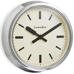 Lacelles Station clock - Chrome
