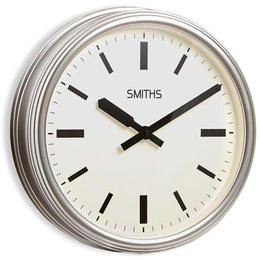Smiths Station clock - Silver