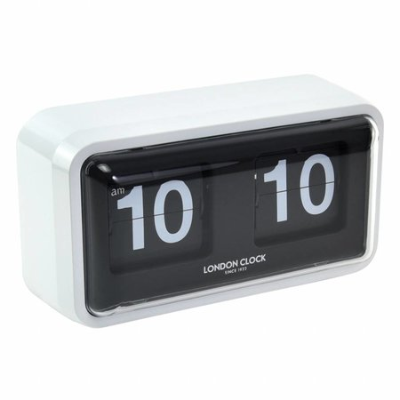 London clock Bosker White Case Flip Clock