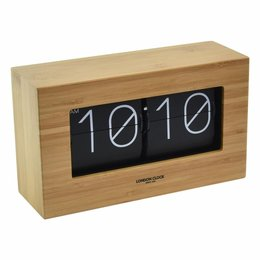 London clock OSLO Riff Wooden Flip Clock