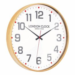 London clock Clock Retro Large Boho Wood