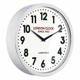 London clock Schoolklok -  Sterling - Chroom