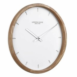 London clock Oslo wall clock Wood