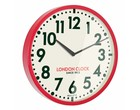 London clock Red Metal Wall Clock