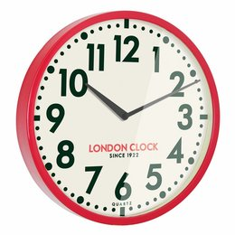 London clock Red Metal Wall Clock
