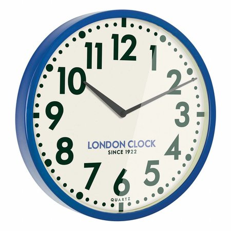 London clock Blue Metal Wall Clock