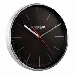 London clock Keukenklok - Glide - Zwart-Zilver