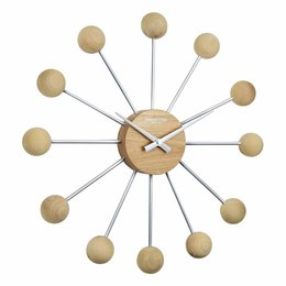 London clock Sputnik wall clock Wood