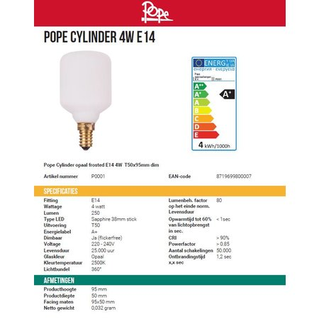 Pope CYLINDER - bulb - White - 4W