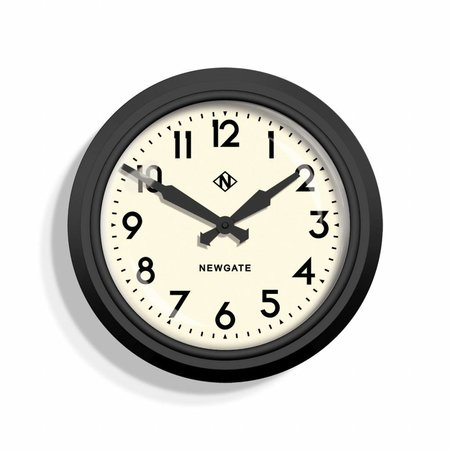 "Newgate 50's ""Electric"" Wall Clock - MAT Black"