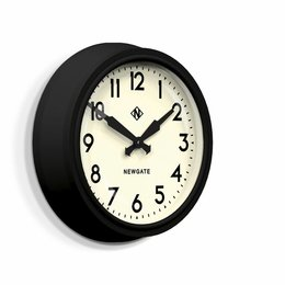 "Newgate 50's ""Electric"" Wall Clock - MAT Black"