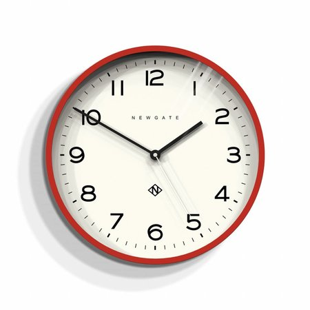 Newgate ECHO number three - Wall Clock - Red