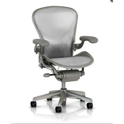 HermanMiller Aeron 1 Classic - Titanium - full options - maat B