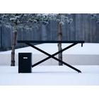 Holmris X-table Black Edition manueel verstelbare sta/zit tafel 63-120cm