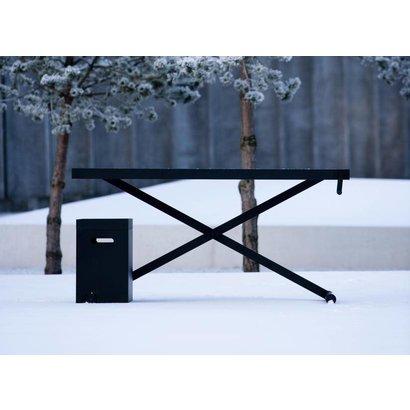 Holmris X-table Black Edition manueel verstelbare sta/zit tafel 68-128cm