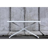 Holmris X-table white edition manueel verstelbare sta/zit tafel 68-128cm