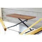 Holmris X-table Walnut Edition manueel verstelbare sta/zit tafel 63-120cm