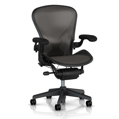 HermanMiller Aeron 1 Classic - Graphite - full options - maat A