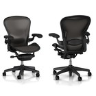 HermanMiller Aeron 1 Classic - Graphite - full options - maat B - LUMBAR