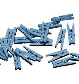 Mini knijpertjes blauw