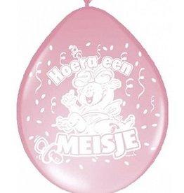 Ballonnen hoera een meisje