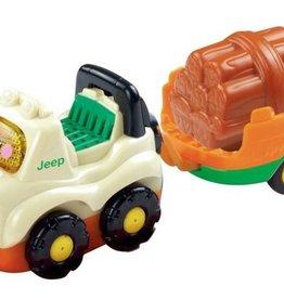 Vtech Toet Toet Auto's Jimmy Jeep + Aanhanger +12m