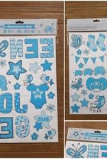 Raam Stickers Hoera een Jongen