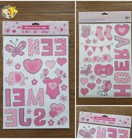 Raam Stickers Hoera een Meisje