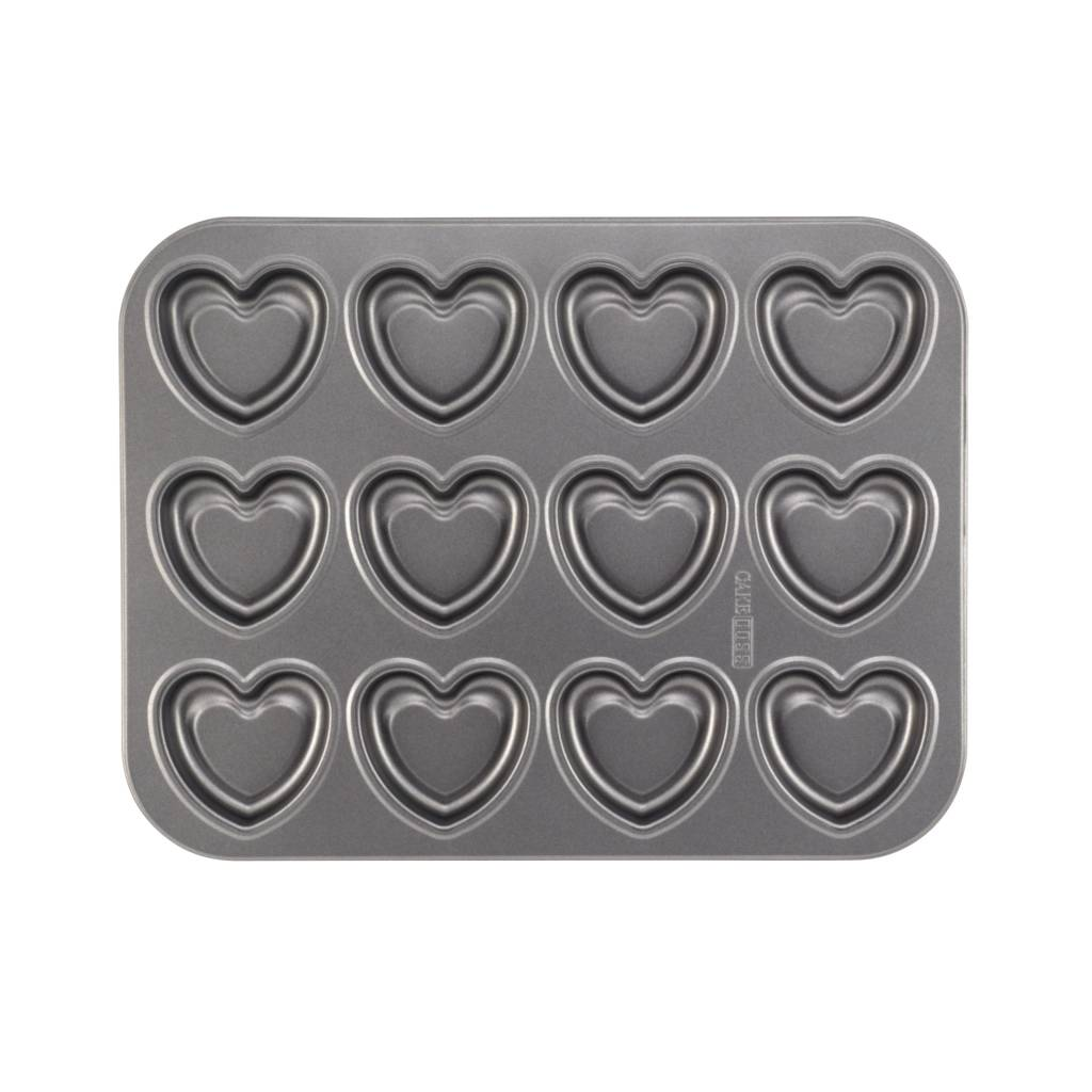 Cake Boss 12-cup Bakplaat 'Heart'