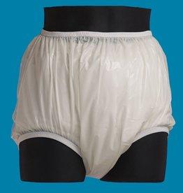 Kins plastic broek met katoenen elastiek, hoog model
