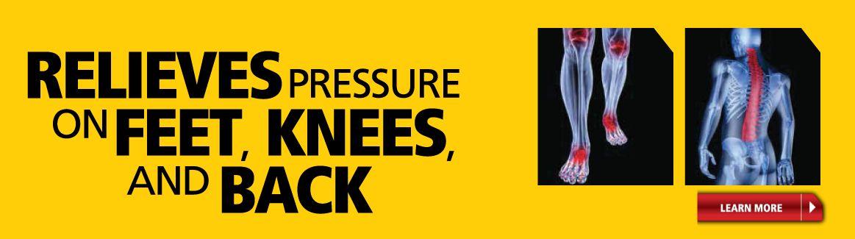 Réduction de la pression sure les pieds, les jambes et les dos!