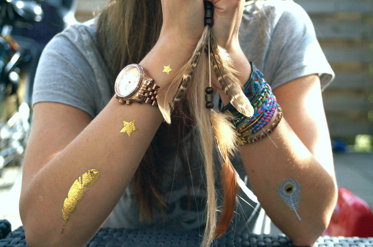 Fashion trends: temporary tattoos