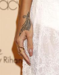 Rihanna tattoo inspiration found on wonderwall.msn.com