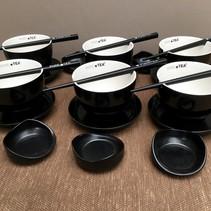 Pure Tea theekopjes zwart 24-delig