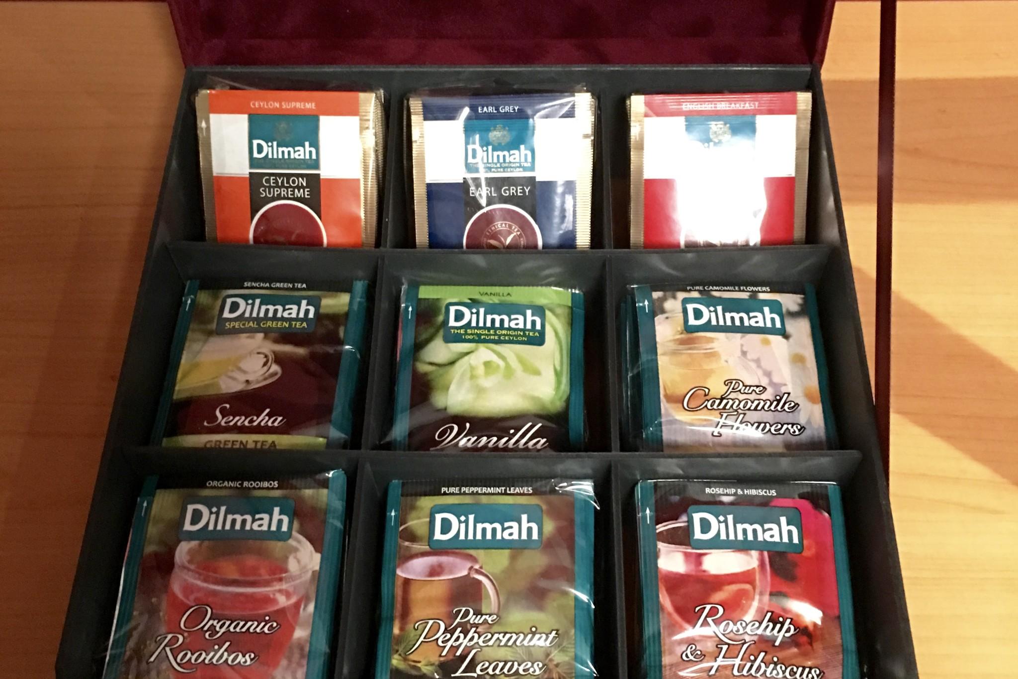 Dilmah thee selectie voor 9-vaks theedoos