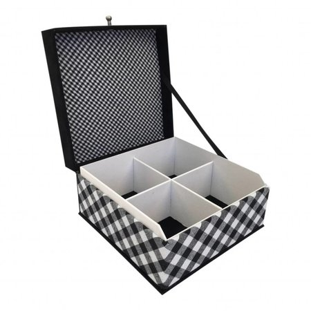 "The Dutch Tea Box Theedoos zwart wit ""At home with Marieke"""