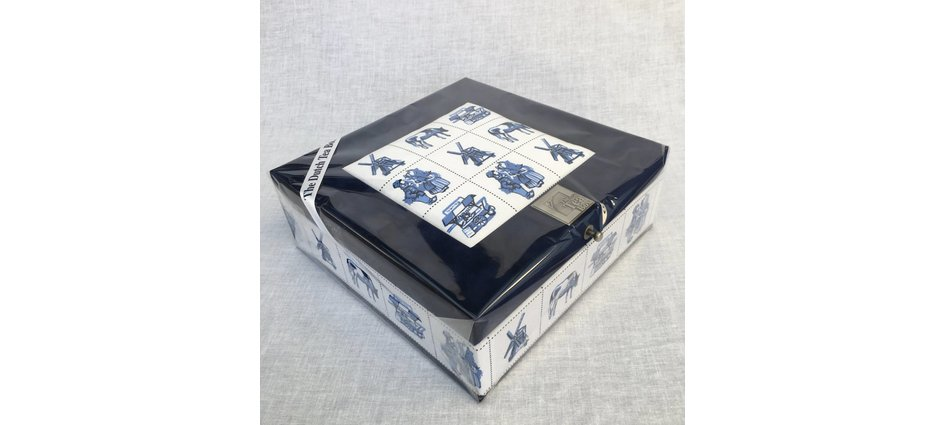 Tea box Delft blue Blonde packed