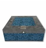 The Dutch Tea Box Tea box petrol grey with 9 compartments