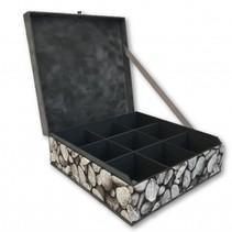 Tea box stones grey