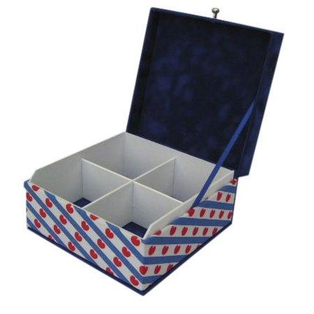 The Dutch Tea Box Tea box Friesland souvenir gift 4 compartments